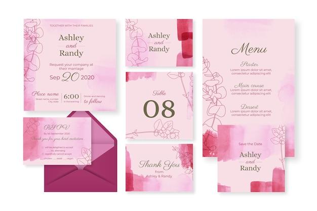 Rosa hochzeitsbriefpapier