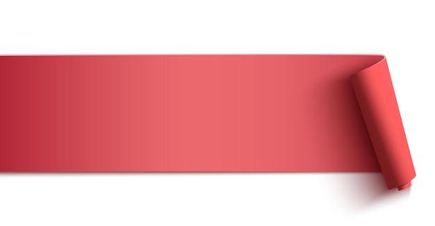 Rosa horizontale fahne, kopfzeile lokalisiert auf weißem hintergrund. poster-, hintergrund- oder broschürenvorlage.