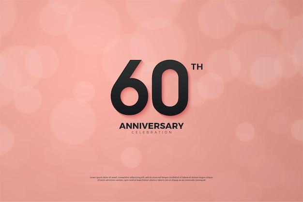 Rosa jahrestag des 60. jahrestages.