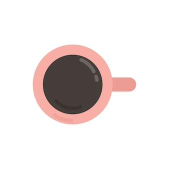 Rosa kaffeetasse-grafikillustration