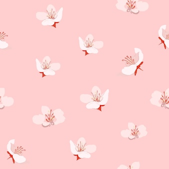 Rosa kirschblüte-blumenmusterhintergrund