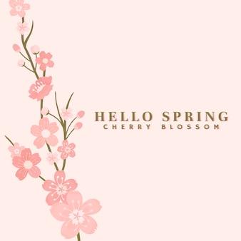 Rosa kirschblüten-hintergrundvektor