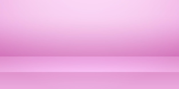 Rosa leerer studioraum, produkthintergrund, vorlagenmodell für anzeige