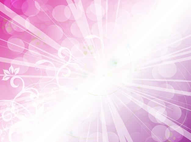 Rosa licht explosion floral background