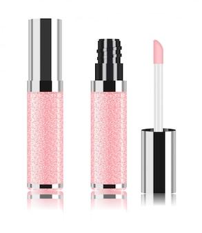 Rosa lipgloss.