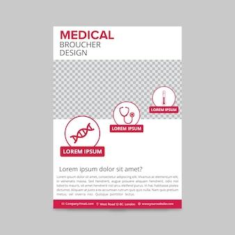 Rosa medizinische broschüre