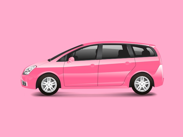 Rosa mpv-minivan-automobilvektor