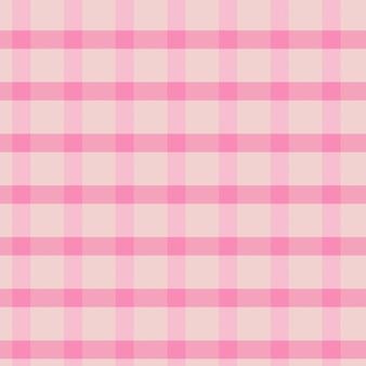 Rosa nahtloser gingham-musterhintergrund