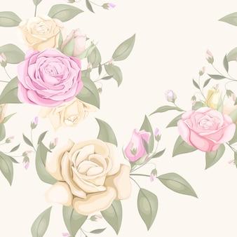 Rosa nahtloses musterdesign für textil und tapete