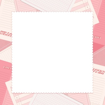 Rosa notizblock-planer-set