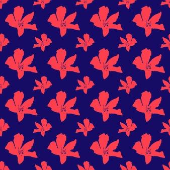 Rosa oleanderblumenmuster auf blauem hintergrund