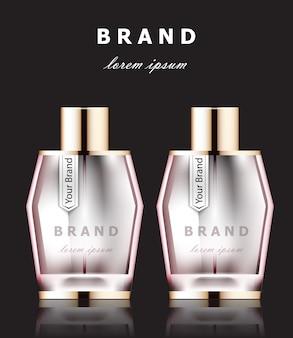 Rosa parfümflaschen