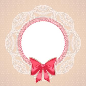 Rosa perlen im flachen design