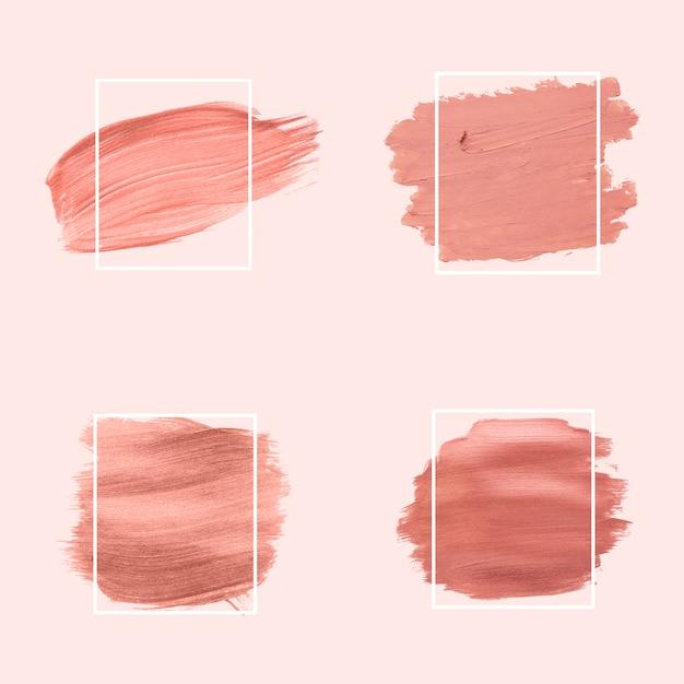 Rosa pinselstriche sammlung