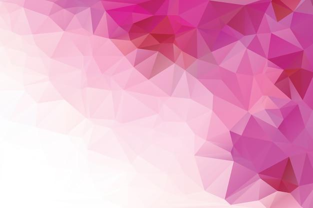 Rosa polygonalen abstrakten hintergrund