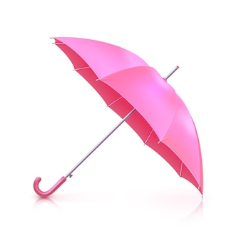 Rosa realistischer regenschirm