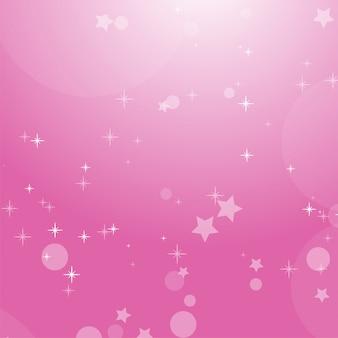 Rosa romantischer abstrakter hintergrund mit sternen und kreisen.
