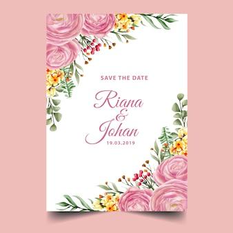 Rosa rosa aquarellrahmenhintergrund, schablone