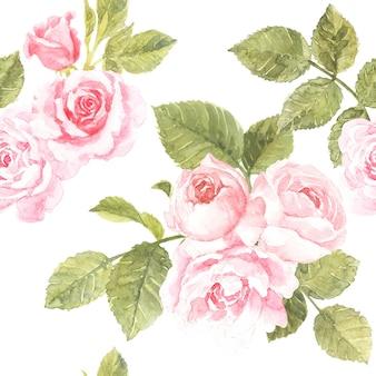 Rosa rosenmusterentwurf