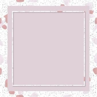 Rosa terrazzo-rahmen