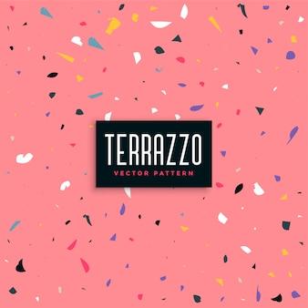 Rosa terrazzomuster-hintergrunddesign
