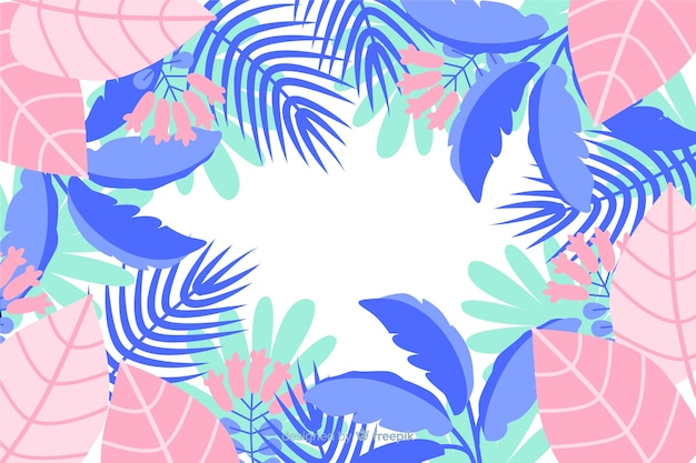 Rosa und blaue farbtöne für blätter