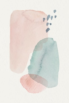 Rosa und blauer aquarellhintergrund