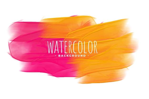 Rosa und gelber aquarellbeschaffenheitshintergrund