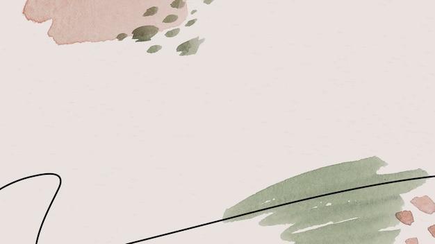Rosa und grüne aquarell gemusterte hintergrundvorlage