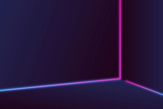 Rosa und lila neonlinien auf dunklem hintergrund