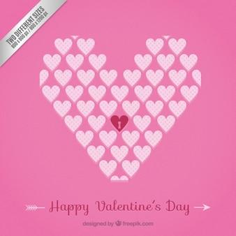 Rosa valentine herzen hintergrund