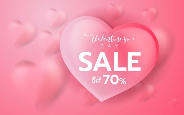 Rosa valentinsgrußtagesverkaufshintergrund