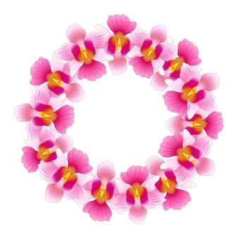 Rosa vanda fräulein joaquim orchideen kranz