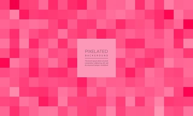 Rosa verpixelter abstrakter geometrischer unschärfehintergrund