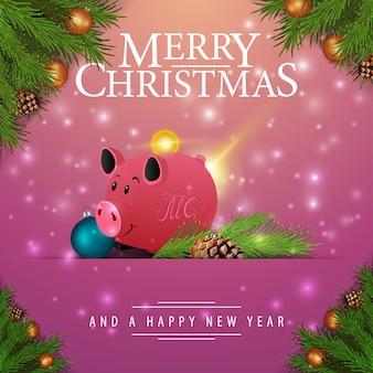 Rosa weihnachtskarte