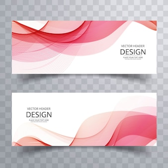 Rosa wellenförmige banner