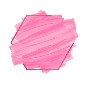Rosafarbener pinsel des abstrakten hintergrundes malte aquarell