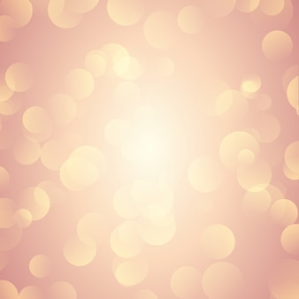 Rose gold bokeh beleuchtet hintergrund
