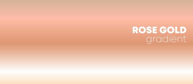 Rose gold hintergrund mit farbverlauf