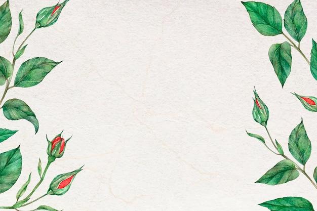 Rose laef grenze rahmen social media banner hintergrund