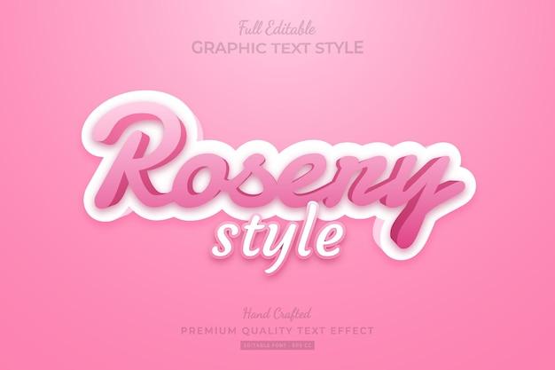 Rose pink style bearbeitbarer premium-texteffekt-schriftstil