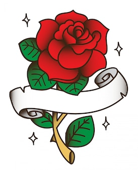 Rose tattoo zeichnung