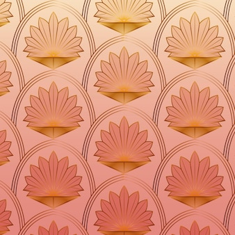 Roségold art deco muster