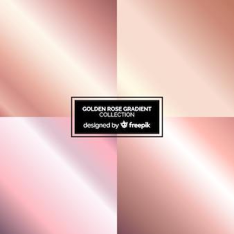 Roségold-farbverlaufssammlung
