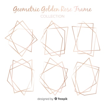 Roségold-geometrische Rahmensammlung