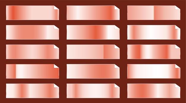 Roségold-metallic-farbverlauf mit großem set