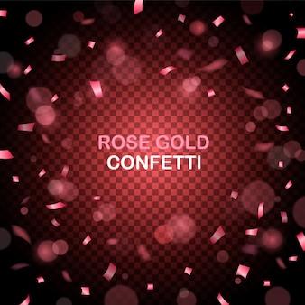 Rosen-goldfunkeln confetti-partyhintergrund