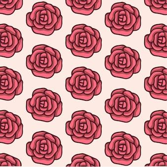 Rosen muster hintergrund social media post vector illustration