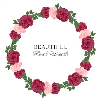 Rosenblumenkreis-rahmenkranz