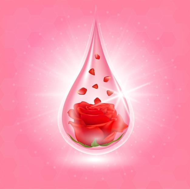 Rosenkollagen und vitaminserum extrahiert